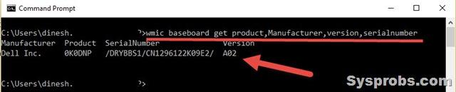Motherboard model number